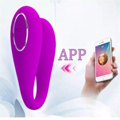 mobil uygulamalı çifte mutluluk vibratörü